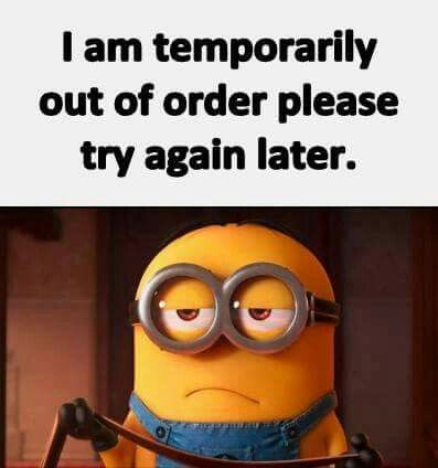 I am temporarily out of order... please try again later - minion