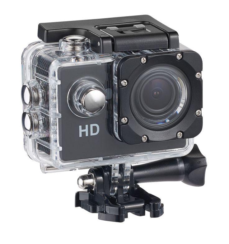 La caméra sport DV-1212 de Somikon dispose d'un boitier étanche, une résolution HD à 720p, plusieurs accessoires de fixation pour moins de 30 euros !