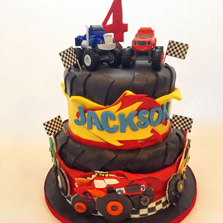 Blaze and the monster machines cake.