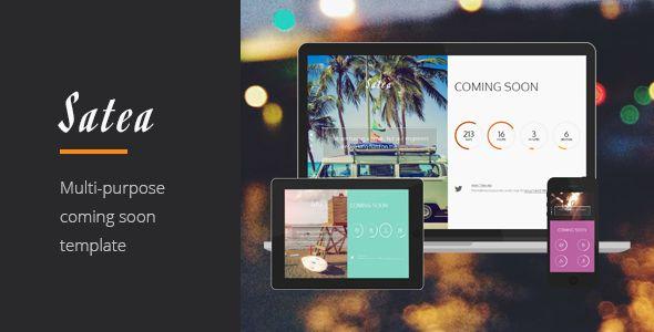 Satea - Responsive Multi-purpose Coming Soon Page