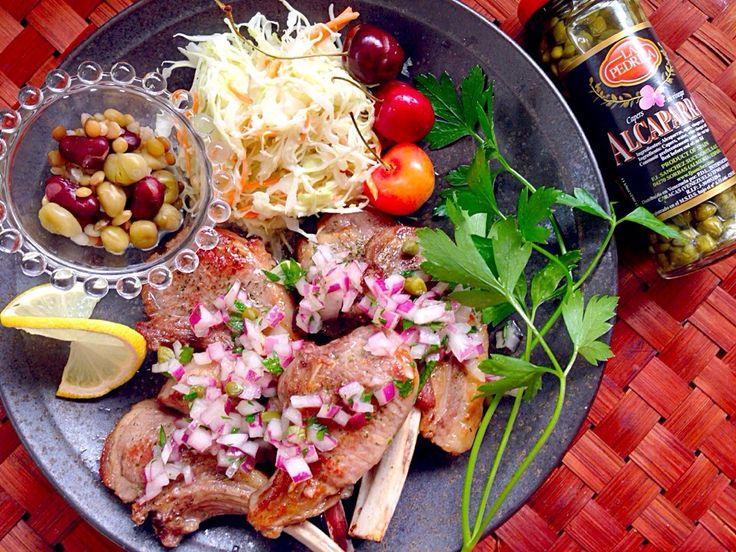 kuzu pirzolaLamb Chop Steak w/Onion caper sauce✨クズ・ピルゾラ <ラムチョップステーキ オニオンケッパーソース>