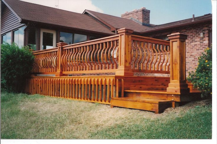 How To Build Deck Railing Ideas Wood How To Decorate Deck Fences Gates Pinterest