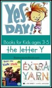 Letter Y Books: A Letter of the Week Book List - The Measured Mom