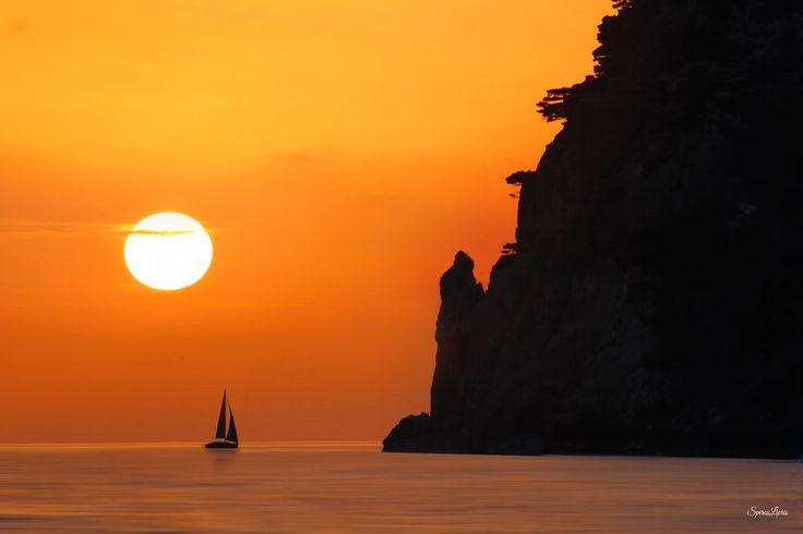 When The Sun Goes Down - Ermones beach,Corfu Greece