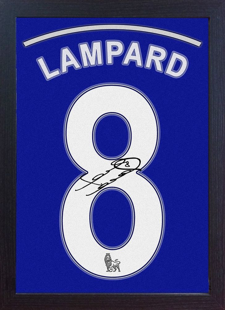 Frank Lampard Chelsea  signed autograph Football Memorabilia CANVAS 100% Framed