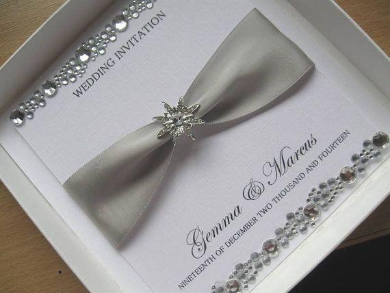 Crystal Wedding Invitation Luxury Wedding Card With by Cherlaan