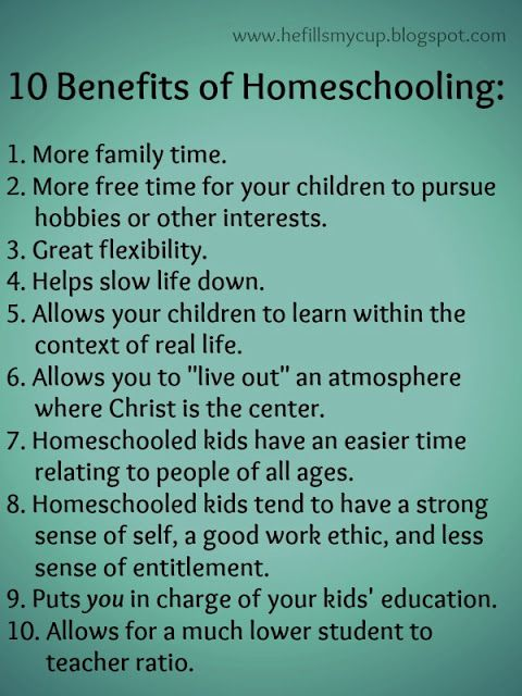 10 Benefits of Homeschooling He Fills My Cup : Why and When We Decided to Homeschool