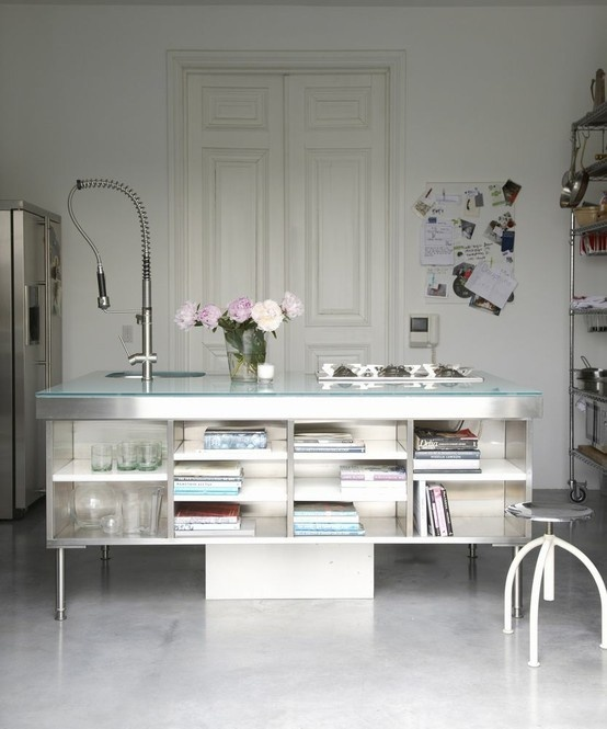 I rather fancy this fabulous component for a laundry room *Cutting Garden Prep Station... look at all that fab undercounter storage for ones favorite flower vessels!!