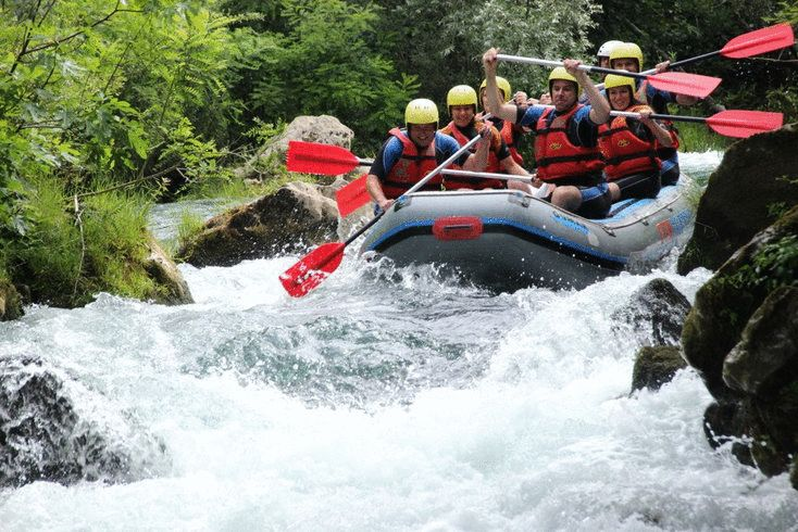 Outdoor adventure travel: Rafting on the Cetina River Croatia http://www.chasingthedonkey.com/adventure-travel-cetina-river-croatia/