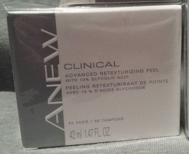 New Avon Anew CLINICAL Advanced Retexturizing Facial PEEL - Chemical Face Peel #AvonAnew