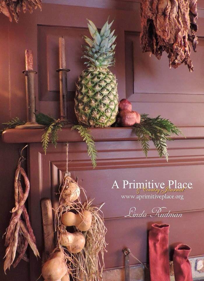 Sneak peek of our primitive home in APP...a primitive Christmas