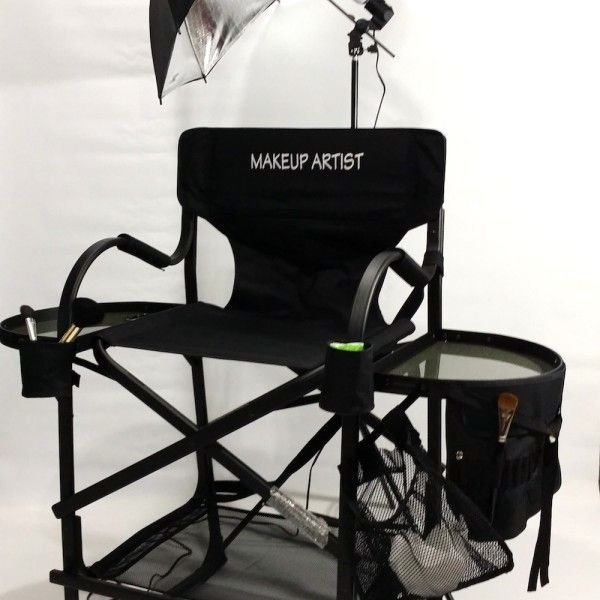"""As Seen On TV The Original Tuscany Pro Tall Makeup Artist Portable Chair w/ Light System (31"""" Seat Height) 