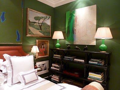 jewel-toned green: Green Bedrooms, Interiors Design, Bedrooms Beds, Jewels Bedrooms