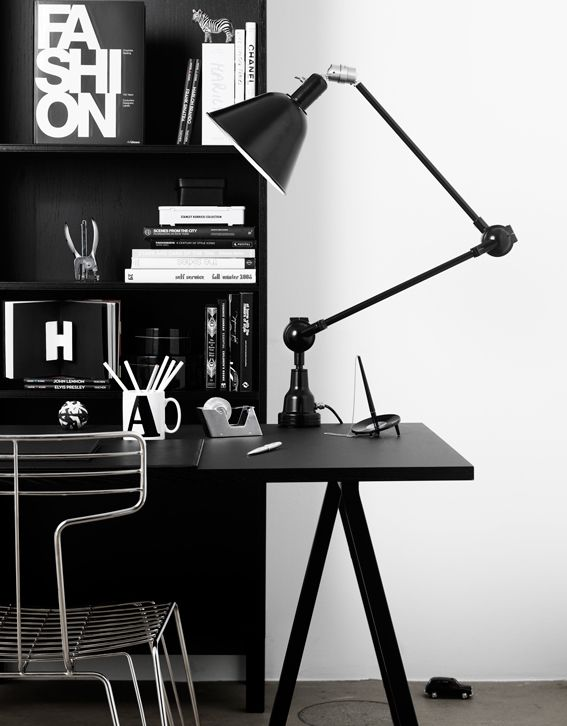 black and white spaces. Office