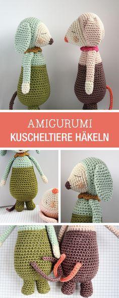 Süße Häkelanleitung: Amigurumi Kuscheltiere häkeln / diy crocheting tutorial for amigurumi soft toys via DaWanda.com