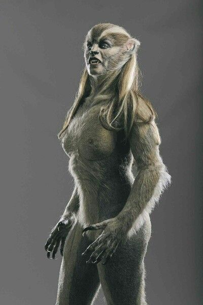 A different look for werewolves.   Merritt Patterson as a female werewolf in the movie Wolves