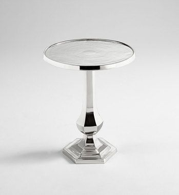 Side Tables | Ona Aluminum & Nickel Silver Side Table