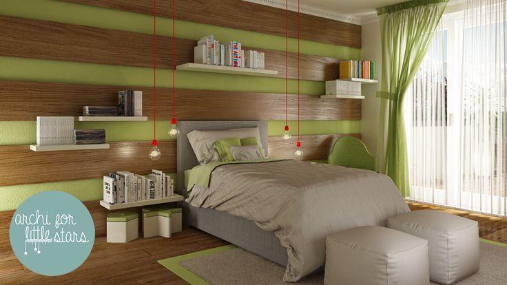 Boy - pistachos - camera bambino - archi for Little Stars - progettazione e design per bambini