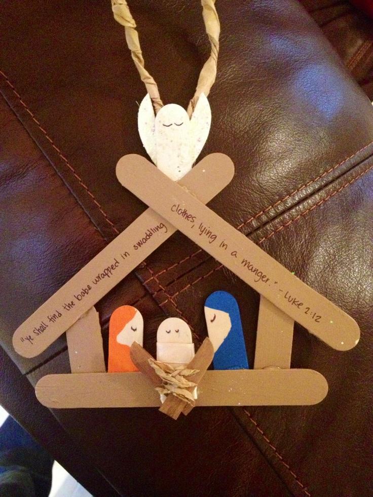 Popsicle Stick Nativity Set Christian Christmas Crafts