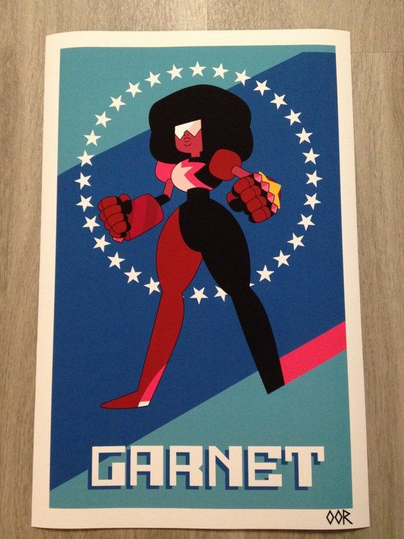 This Is An 11x17 17x26 Or 24x36 Steven Universe Garnet Fine Art Poster Printed On Thick Matte Paper Pe With Images Poster Prints Garnet Steven Universe Fine Arts Posters