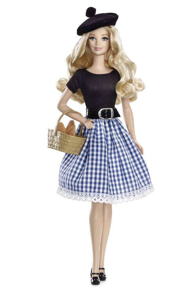 France Barbie Doll - Dolls of The World - Europe Collectible Doll, designed by Linda Kyaw.