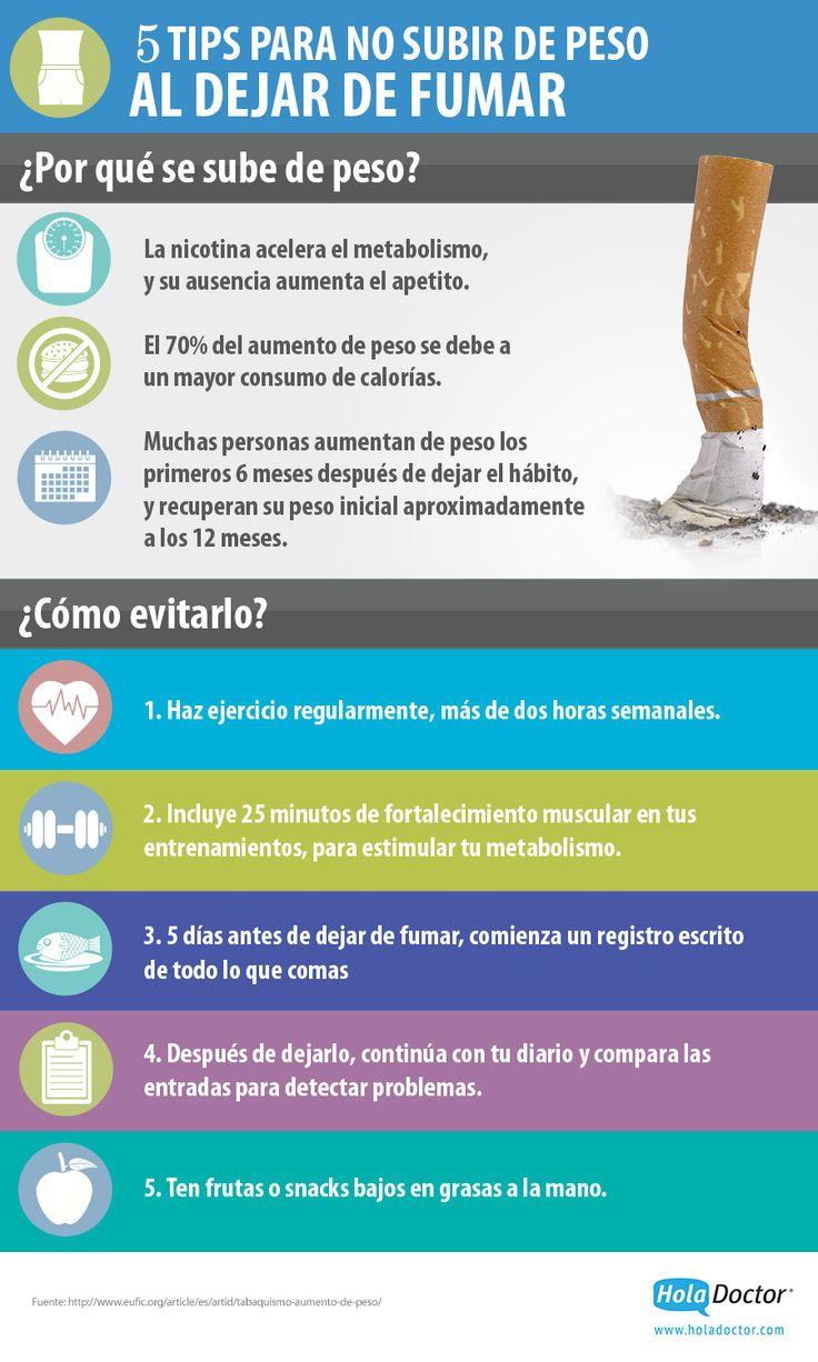 Cómo dejar de fumar y no engordar - HolaDoctor
