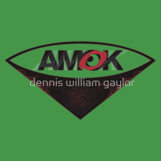 """""""A M O K [tm]"""" Antipodean Masters Of Kinetics - Auckland, Aotearoa - Surf logo with island tribal tattoo and dynamic AMOK typographic logoform T-Shirts & Hoodies, unique bespoke designs by dennis william gaylor .:: watersoluble ::."""