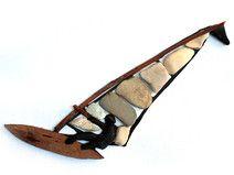 Pebble Art - Steinbild - Kieselstein - Surfer