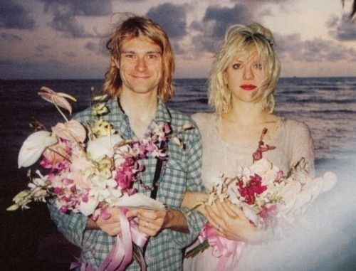 "…at our wedding, Kurt wore green pajamas because he was too lazy."" -Courtney Love"