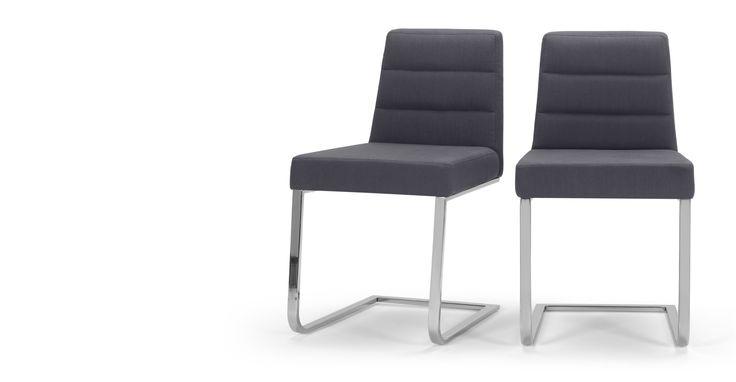 2 x Ellison Dining Chairs, Lead Grey