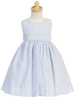 Light Blue Striped Cotton Seersucker Dress http://www.adorablebabyclothing.com/store/product/LTM642B.html