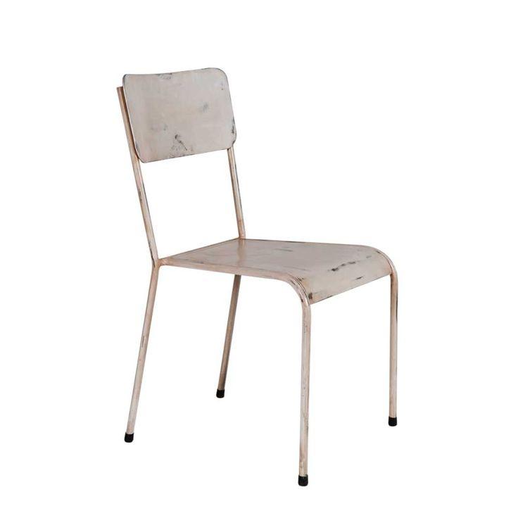 Stuhl In Cremefarben Metall Jetzt Bestellen Unter:  Https://moebel.ladendirekt.de/kueche Und Esszimmer/stuehle Und Hocker/esszimmerstuehle/?uidu003da6ec05dc 28f9  ...