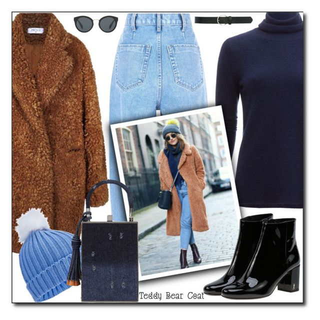 """""""Snuggle Up: Teddy Bear Coats"""" by shoaleh-nia ❤ liked on Polyvore featuring White + Warren, Miss Selfridge, Yves Saint Laurent, Jill Haber, Prada and M&Co"""