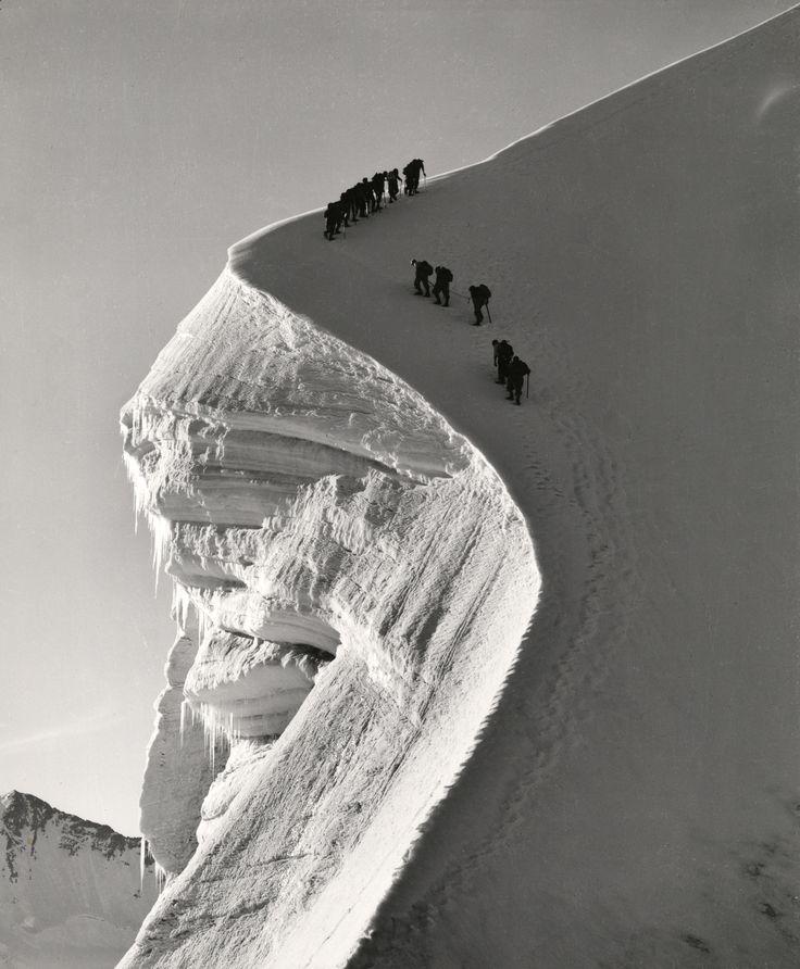 Switzlerland. Seilschaft am Biancograt (Bernina), 1941 // photo by ...