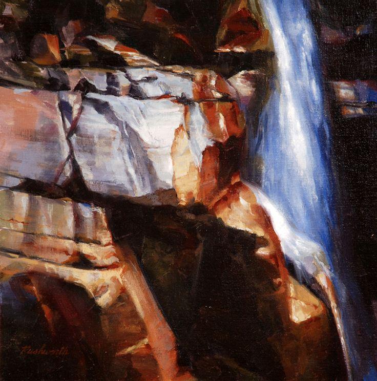 Falling Water (16 x 16 in oil)