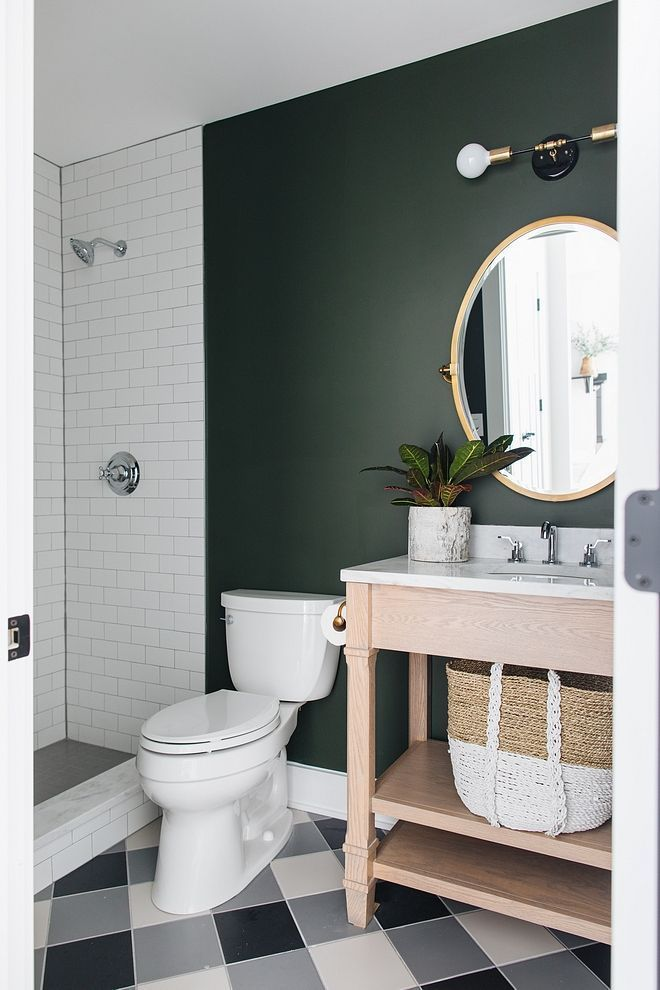 Colour Feature Dark Green The Painters Place Small Bathroom Paint Green Bathroom Paint Bathroom Paint Colors Sherwin Williams