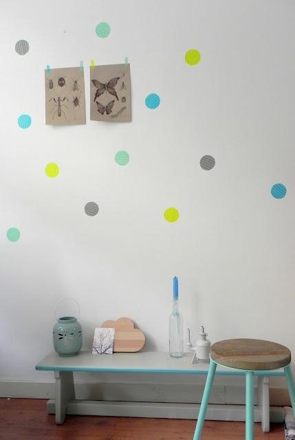 Chez Chouke: masking tape wall dots