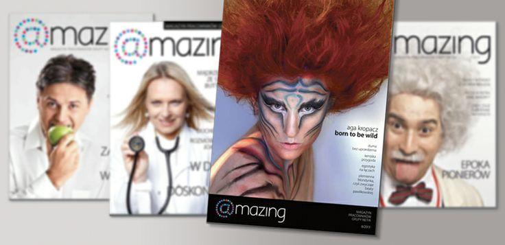 Covers of amazing - magazine for Netia employees.
