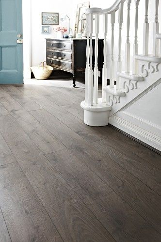 Laminate wood floors. great color with blue and white