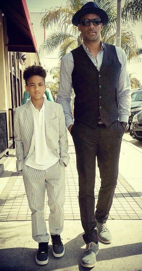 Handsome squared Boris Kodjoe & son Nick