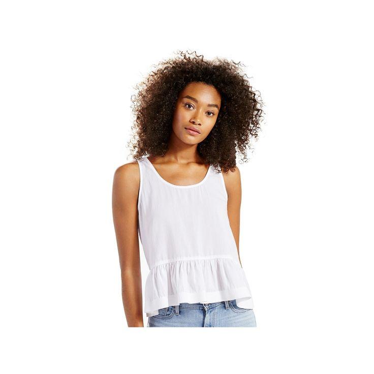Women's Levi's Peplum Tank Top, Size: Medium, White