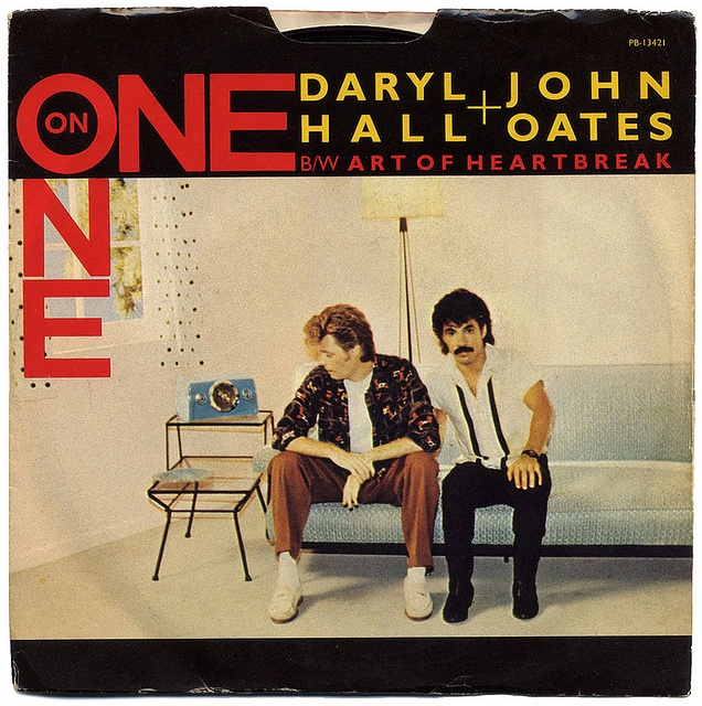 One On One b/w Art Of Heartbreak.  Daryl Hall and John Oates, RCA Records (1982)