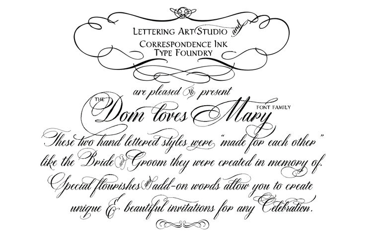 Dom Loves Mary calligraphy font is launched! | Calligraphy fonts ...