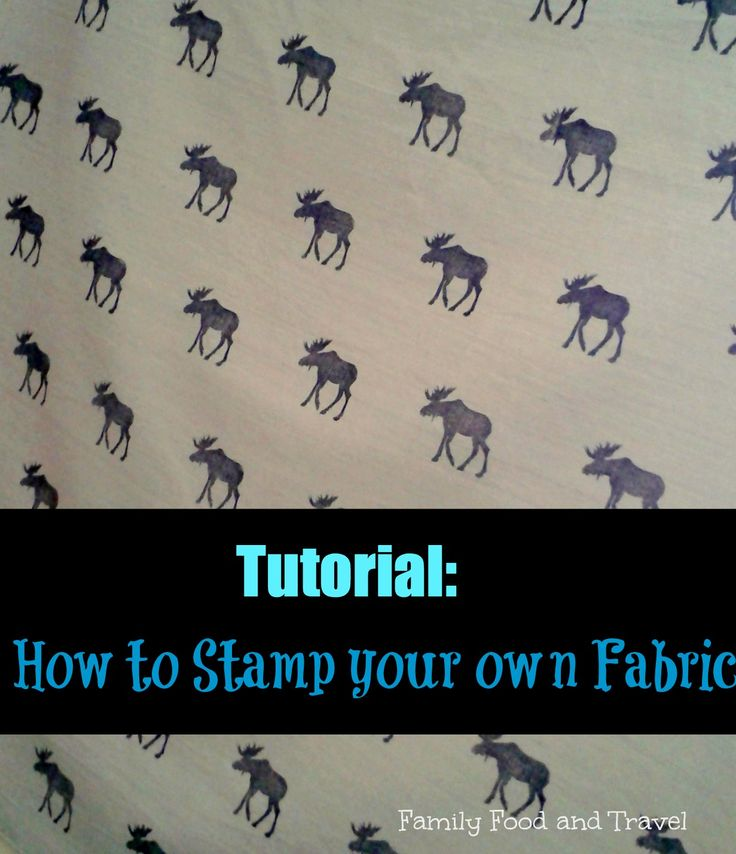 This tutorial on DIY Fabric Stamping teaches you how to create perfect hand stamped fabric for pillows and more.