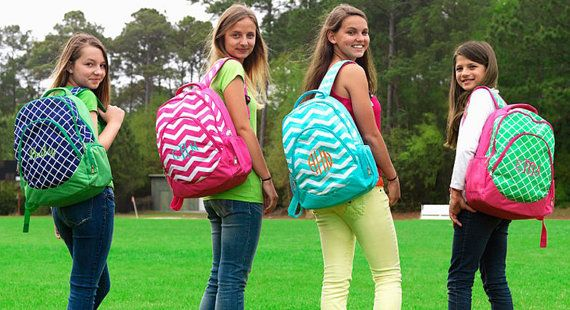 Personalized Backpack Embroidered Monogrammed by KeyLimeOnline, $28.95