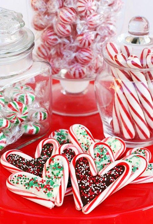 Heerlijke smikkel gerechtjes maken met Kerstboomstokjes of Kerstsnoep. Christmas Candy. - Plazilla.com