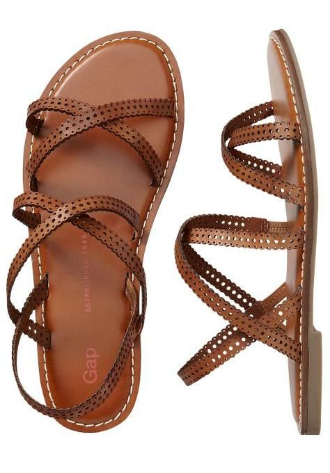 Stylish Brown Flat Sandals
