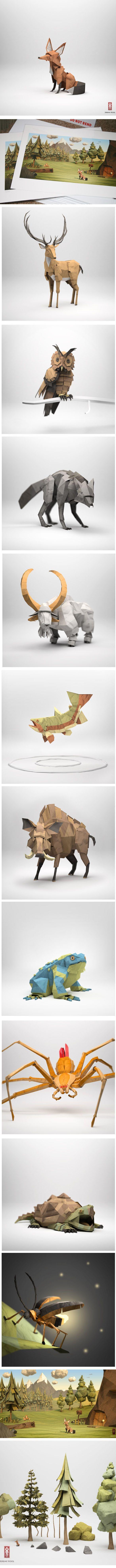 ₪ Paper Art Potpourri ₪  Jeremy Kool | paper sculptures