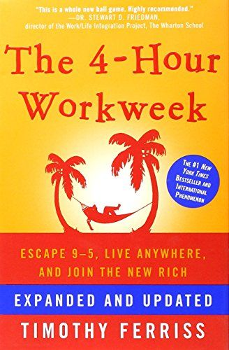 The 4-Hour Workweek: Escape 9-5, Live Anywhere, and Join the New Rich (Expanded and Updated) by Timothy Ferriss http://www.amazon.com/dp/0307465357/ref=cm_sw_r_pi_dp_cFGowb0BV2DW6