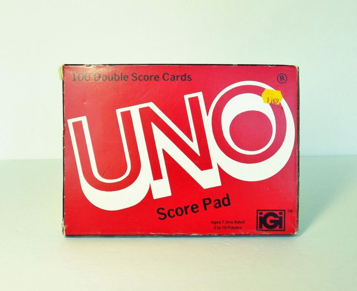 1978 UNO Score Cards ~ Card Game Ephemera ~ 97/100 Double Sided Pages by MementoMinefield on Etsy